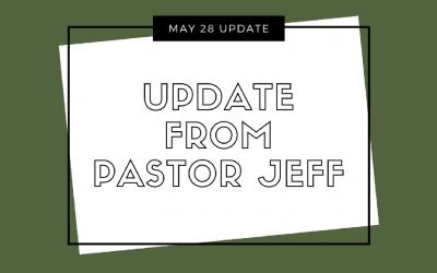 Update from Pastor Jeff